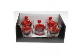 Echeveria miranda rosso in vetro + hartje 966